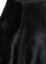 'Trigone' zigzag hem velour flared midi skirt