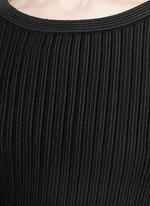 'Libellule' frill mesh knit maxi dress