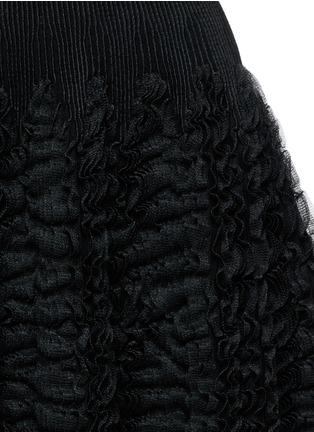 Detail View - Click To Enlarge - Alaïa - 'Libellule' frill mesh knit maxi dress