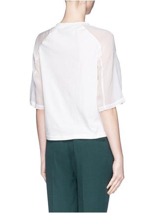 背面 - 点击放大 - 3.1 PHILLIP LIM - Fern foil print cropped T-shirt