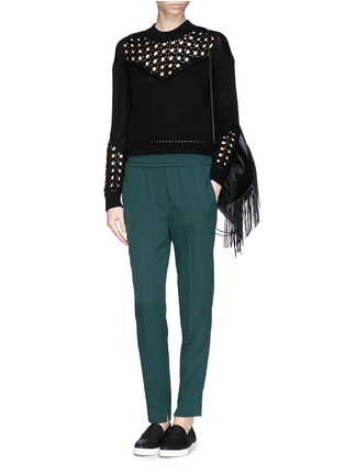 Figure View - Click To Enlarge - 3.1 Phillip Lim - Smock waist silk pants