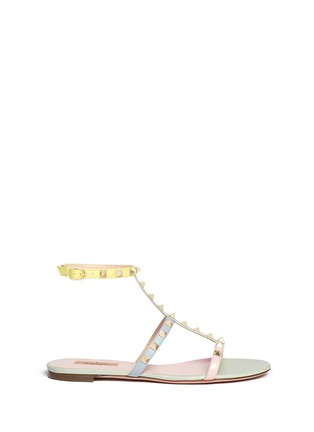 Main View - Click To Enlarge - Valentino - 'Rockstud' strap leather sandals