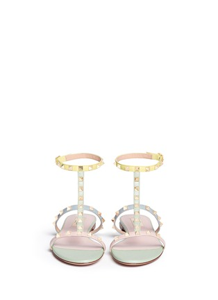 Figure View - Click To Enlarge - Valentino - 'Rockstud' strap leather sandals