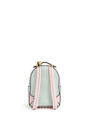 Back View - Click To Enlarge - Valentino - 'Rockstud' mini watercolour leather backpack