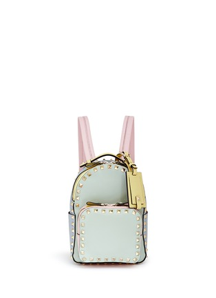 Main View - Click To Enlarge - Valentino - 'Rockstud' mini watercolour leather backpack