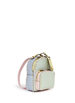 Figure View - Click To Enlarge - Valentino - 'Rockstud' mini watercolour leather backpack