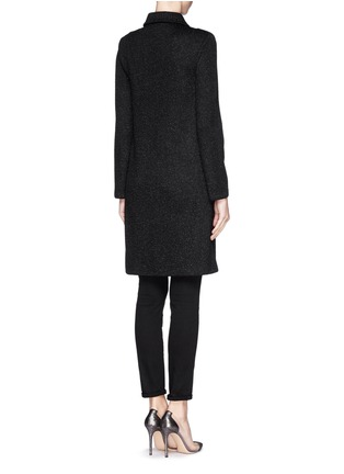 Back View - Click To Enlarge - ST. JOHN - Sparkle wool knit coat