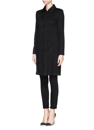 Front View - Click To Enlarge - ST. JOHN - Sparkle wool knit coat