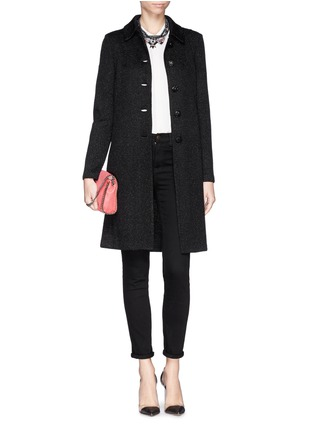 Figure View - Click To Enlarge - ST. JOHN - Sparkle wool knit coat
