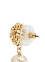 Crystal daisy stud Baroque pearl earrings