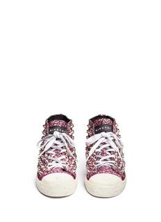 GIENCHI'Missura' coarse glitter sequin sneakers