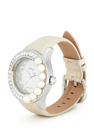 Detail View - Click To Enlarge - Galtiscopio - Pearl and crystal lace print watch