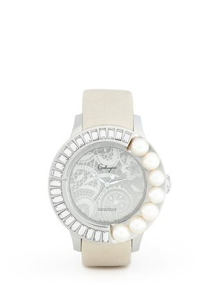 Main View - Click To Enlarge - Galtiscopio - Pearl and crystal lace print watch