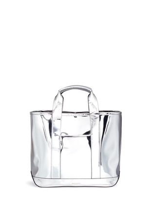 Detail View - Click To Enlarge - Rebecca Minkoff - 'Sofia' pompom keyring mirror leather tote