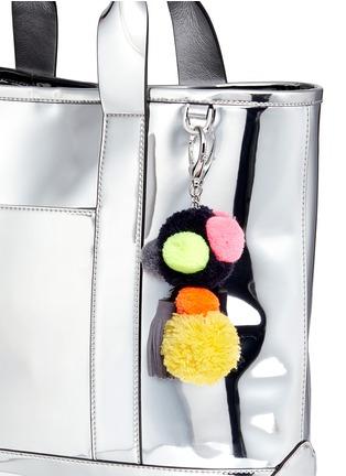 - Rebecca Minkoff - 'Sofia' pompom keyring mirror leather tote