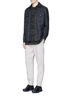 T By Alexander WangVintage fleece cotton blend sweatpants