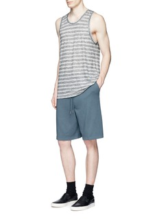 T By Alexander WangVintage fleece cotton blend sweat shorts