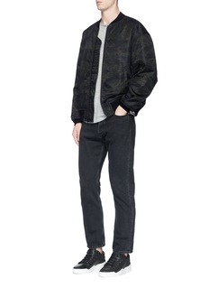 T By Alexander Wang Camouflage print back patch bomber jacket