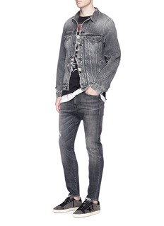 R13 'Drop' slim fit distressed jeans
