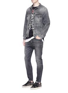 R13'Drop' slim fit distressed jeans