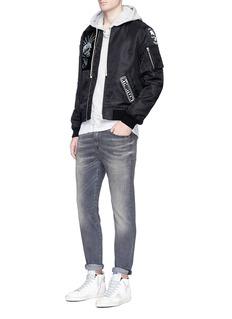 R13 'Skate' slim fit jeans