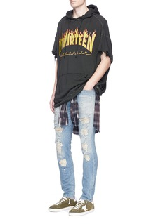 R13 'Skate' slim fit ripped jeans