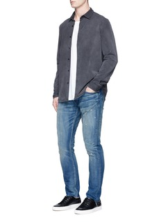 Simon Miller 'Mito' paint spot distressed jeans