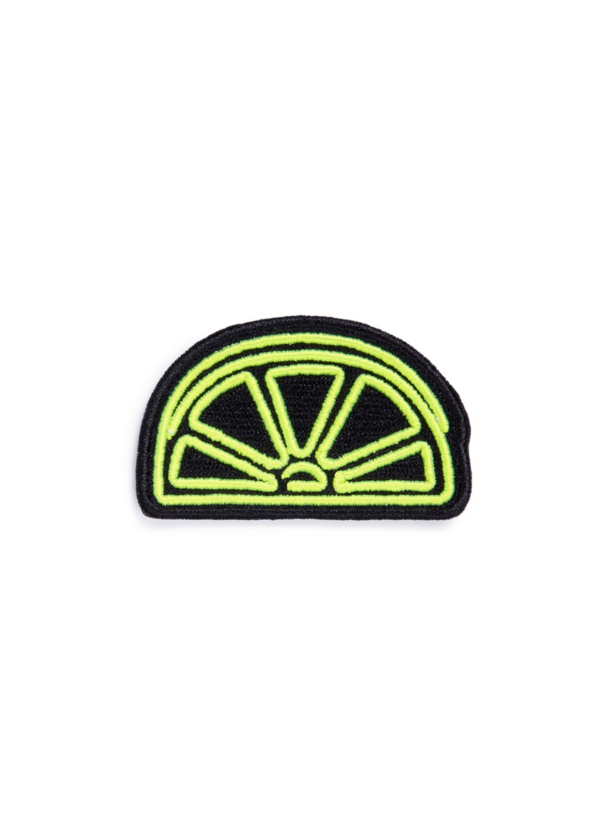 marc jacobs female outline lemon embroidered patch