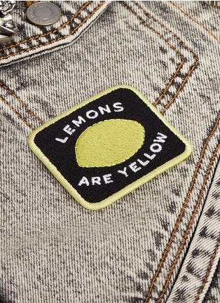 Detail View - Click To Enlarge - Marc Jacobs - 'Lemons are Yellow' embroidered patch