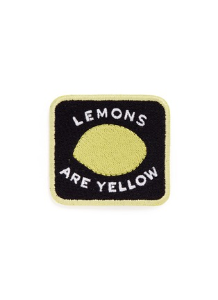 Main View - Click To Enlarge - Marc Jacobs - 'Lemons are Yellow' embroidered patch