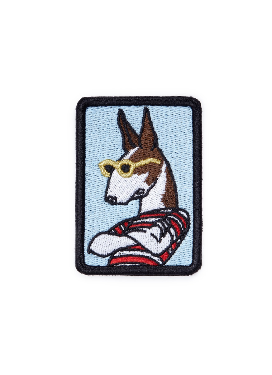 marc jacobs female  the neville dog embroidered patch