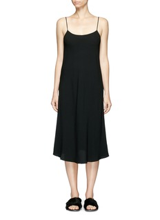 THE ROW 'GIBBONS' CREPE MIDI DRESS