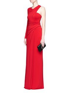 Alexander Wang Asymmetric drape one-shoulder crepe gown