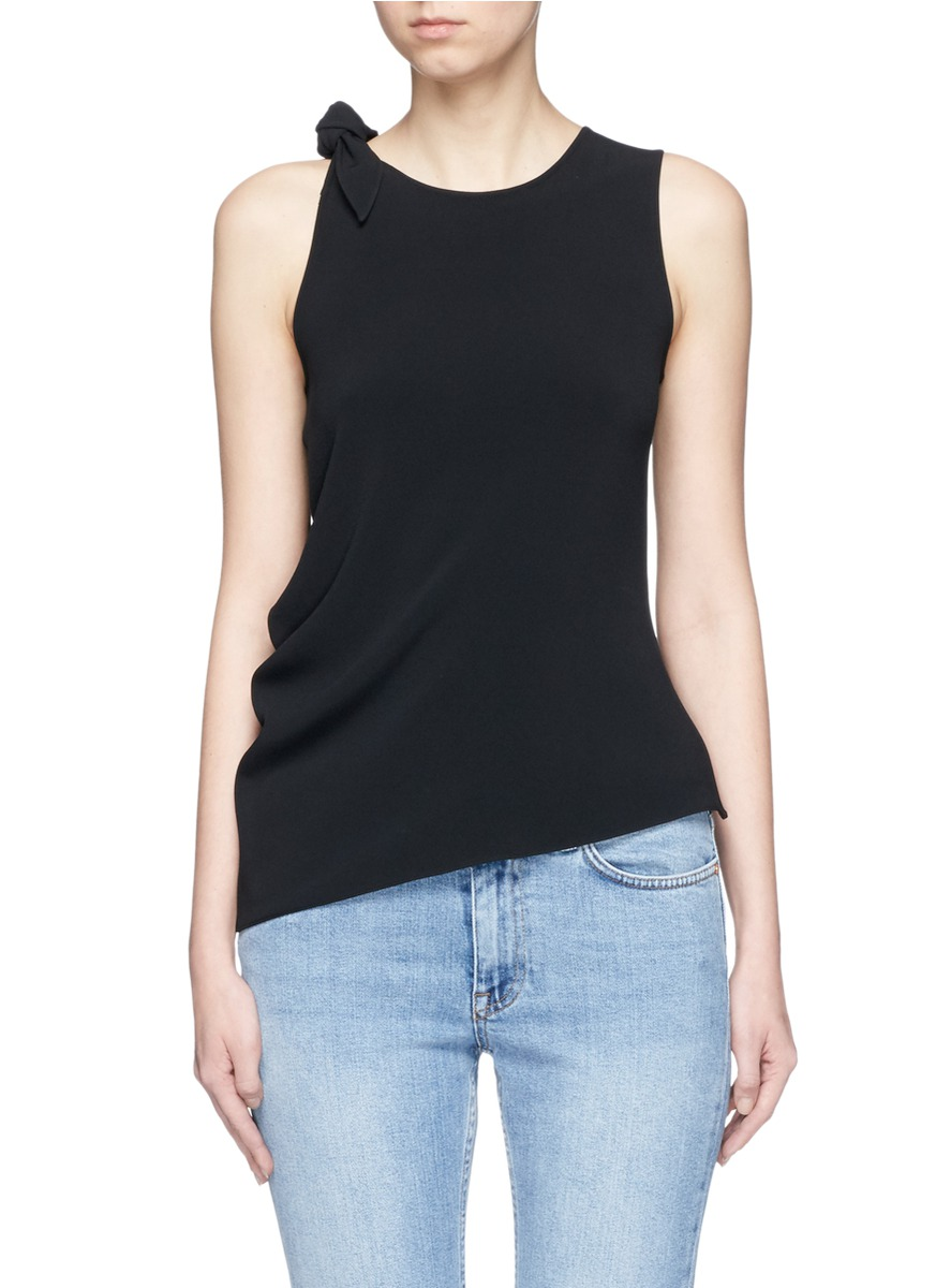 Bellair knotted shoulder tank top by Acne Studios