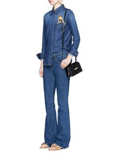 Stella McCartneyBird embroidered denim shirt
