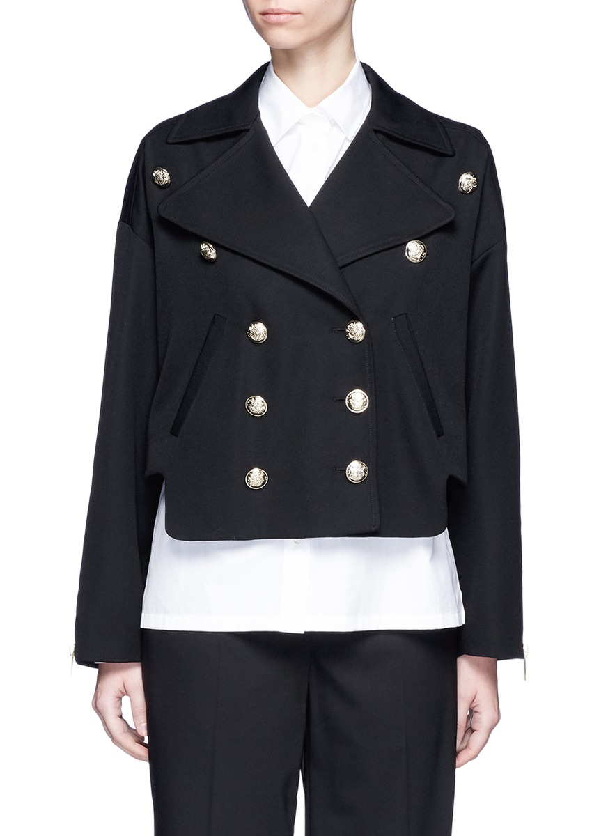 Double breasted military wool jacket by Lanvin