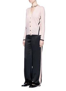 Lanvin Contrast stripe wool cardigan