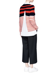 MRZ Colourblock stripe split back sweater