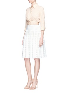 Alaïa 'Bossa Nova' dot stripe knit skirt