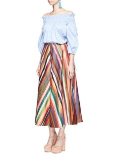 Rosie Assoulin 'Melted Rainbow' embroidered A-line skirt