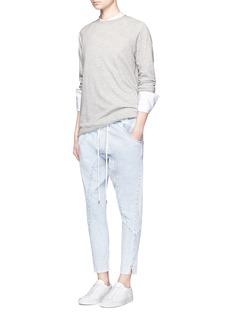 bassike'Super Lo Slung' cotton denim pants
