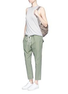 bassike Shoelace drawcord canvas cropped pants