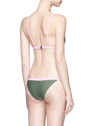Back View - Click To Enlarge - RYE SWIM - 'BOP' colourblock bikini set