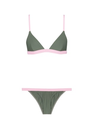 Main View - Click To Enlarge - RYE SWIM - 'BOP' colourblock bikini set