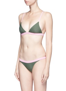 RYE  'BOP' colourblock bikini set