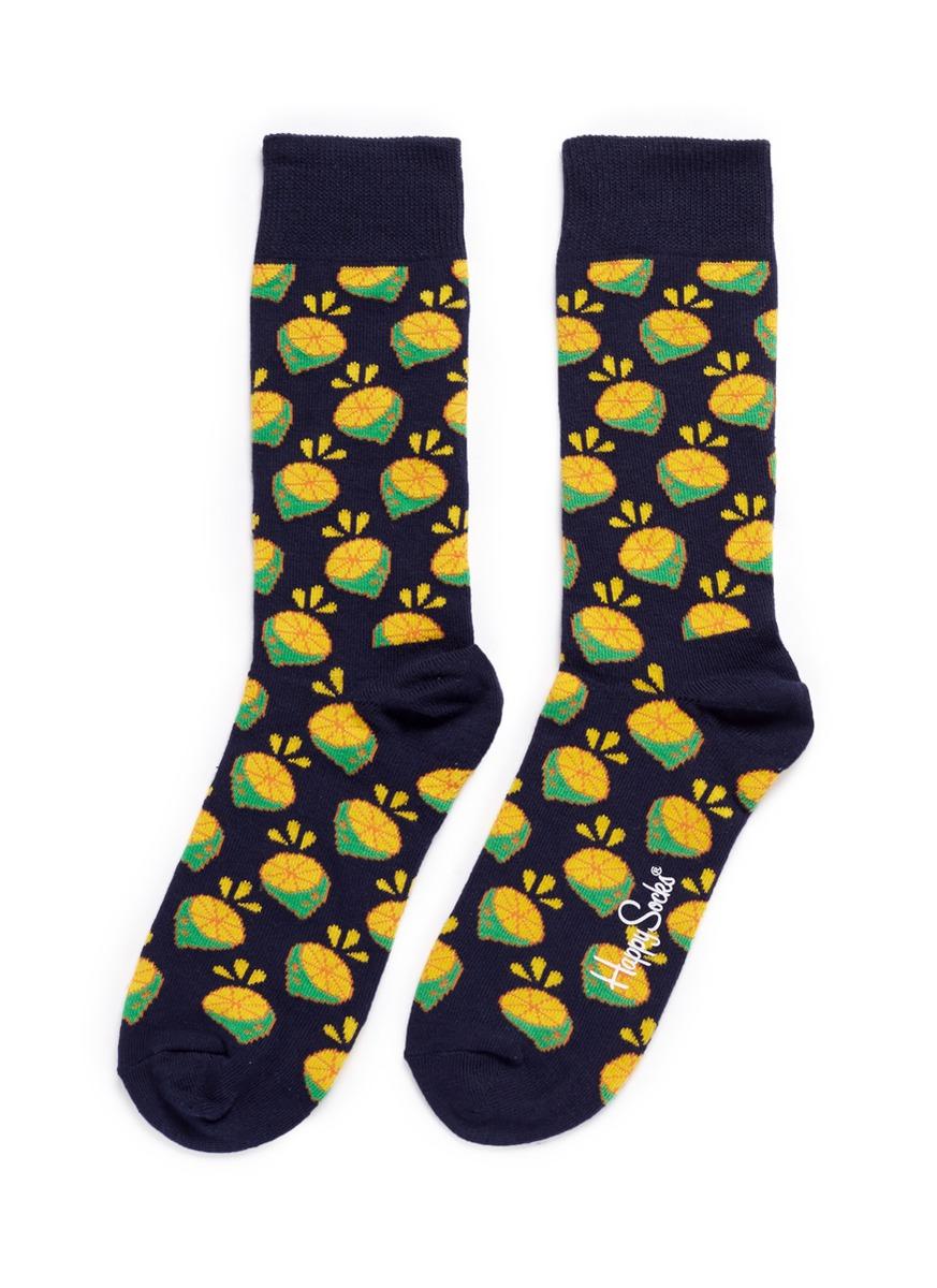 Lime socks by Happy Socks
