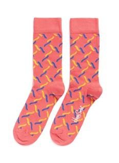Happy Socks'Fence' squiggle socks
