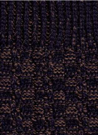 Detail View - Click To Enlarge - FALKE - 'Bed Rock' knit check socks