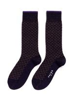 'Bed Rock' knit check socks