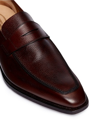 Detail View - Click To Enlarge - George Cleverley - 'George' Scotch grain leather penny loafers